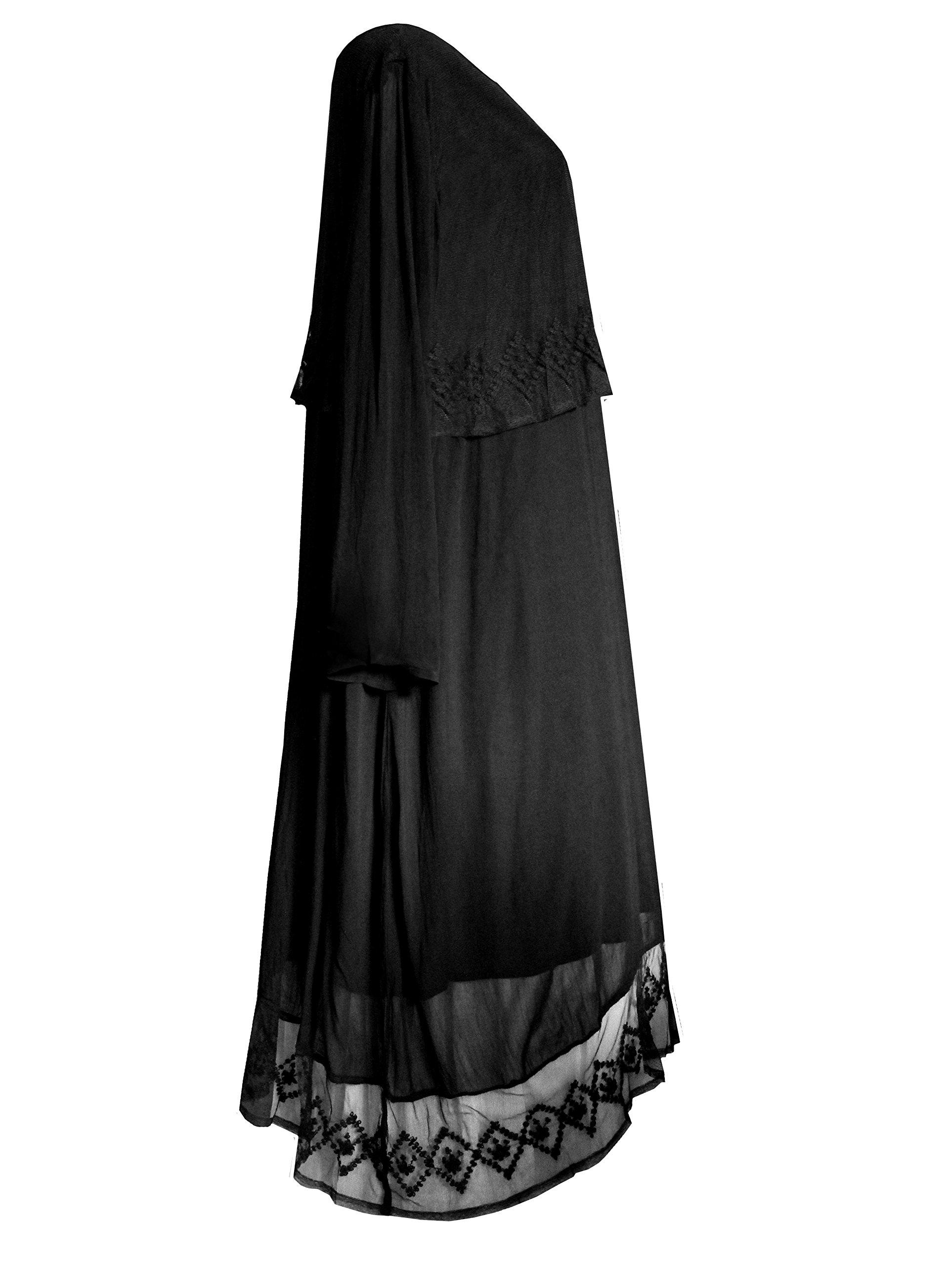 Funhouse Victorian Valentine Gothic Steampunk Juliet Renaissance Dress Black L XL 1X 4
