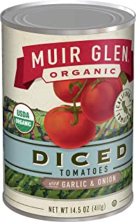 product image for Muir Glen Organic Diced Tomatoes With Garlic and Onion, 14.5 oz (Pack of 12)