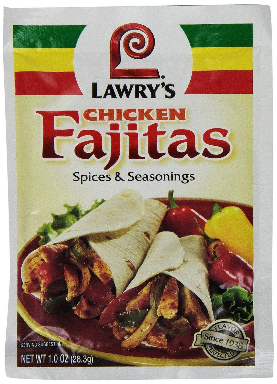 Lawry's Mix, Fajita, Chicken, 1-Ounce (Pack of 12)