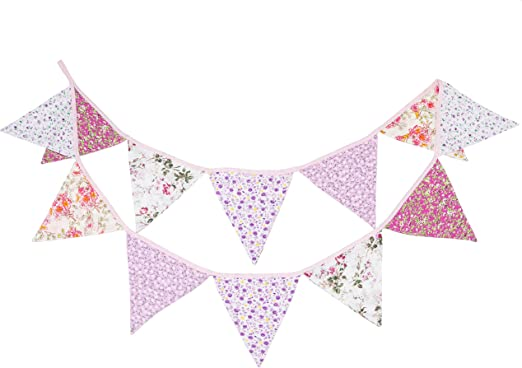 Party Banner Bunting Pink Fish Welcome Home New Baby