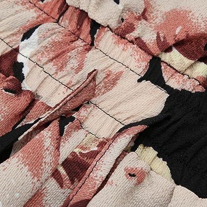 lenfesh Spalla Libero Retro Jumpsuits Elegant fiori donna Playsuit  pagliaccetto lungo tuta pantaloni  Amazon.it  Sport e tempo libero 6c30d44e11b