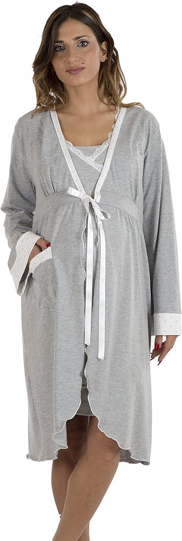 Premamy - Bata para Maternidad, Estilo Anudado, algodón elástico de Dos vías, pre-Post-Parto: Amazon.es: Ropa y accesorios