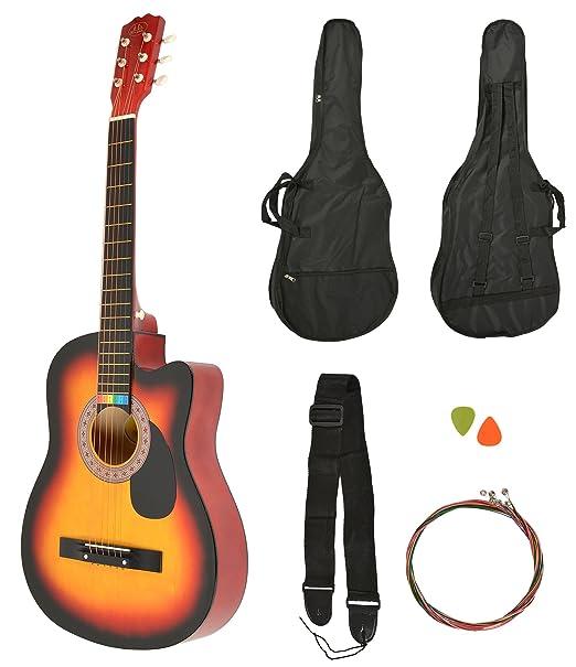 30 opinioni per Chitarra acustica Western completa di borsa, corde sostitutive colorate e