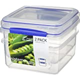 Sistema Klip It 1652 Klip It Pack Lunch Plus x 2 Food Storage Container, Clear