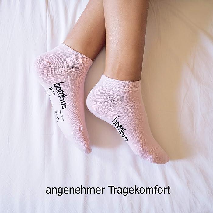 SGS 5-10 Bambus Socke Sneaker Herren Damen Bambussocken