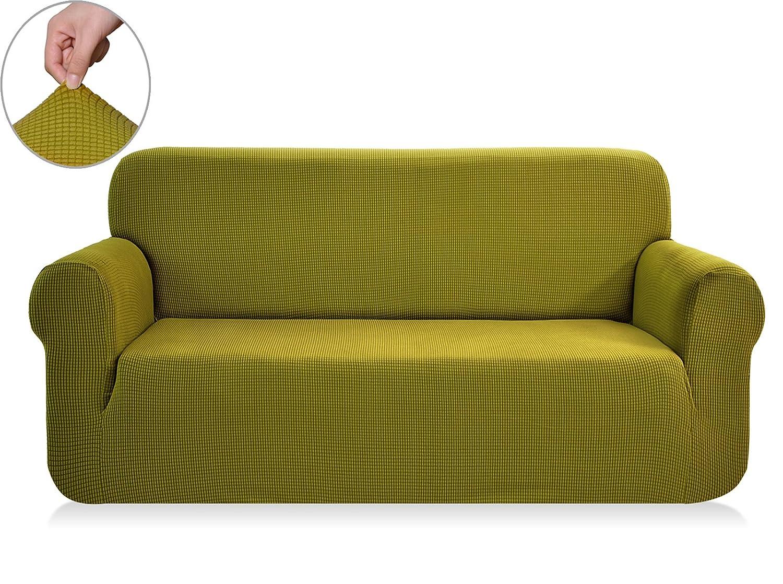 (Sofa, Yellow Green) Chunyi Jacquard Sofa Covers 1-Piece Polyester Spandex Fabric Slipcovers (Sofa, Yellow Green) B0179B20Y6 Sofa|イエローグリーン イエローグリーン Sofa