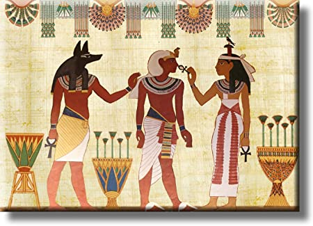 Ancient Egyptian Scripture Art Picture on Stretched Canvas, Wall Art ...