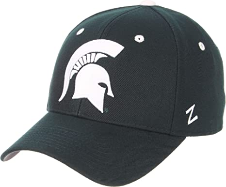 best loved 520bb 9cbc3 Amazon.com  Zephyr Men s Michigan State Spartans Green DH Fitted Hat,(6.875)   Sports   Outdoors