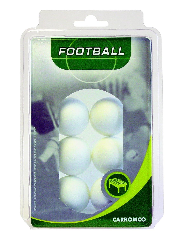 Carromco Balles de baby-foot (6 balles blanches), 62106