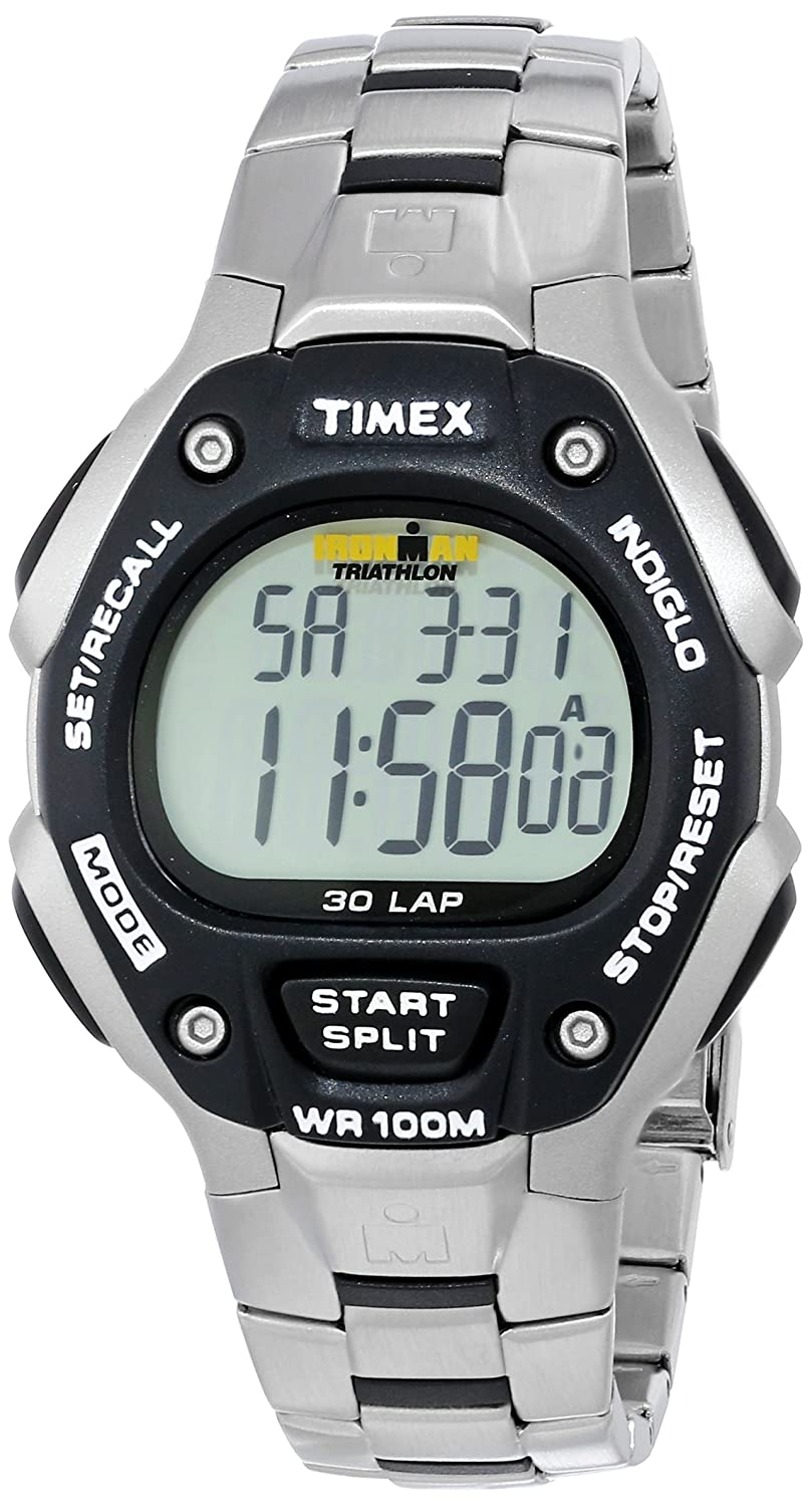 2f56a5f5fdd8 Amazon.com  Timex Men s IRONMAN 30-Lap Stainless Steel   Resin Sports Watch   T5H971  Timex  Watches