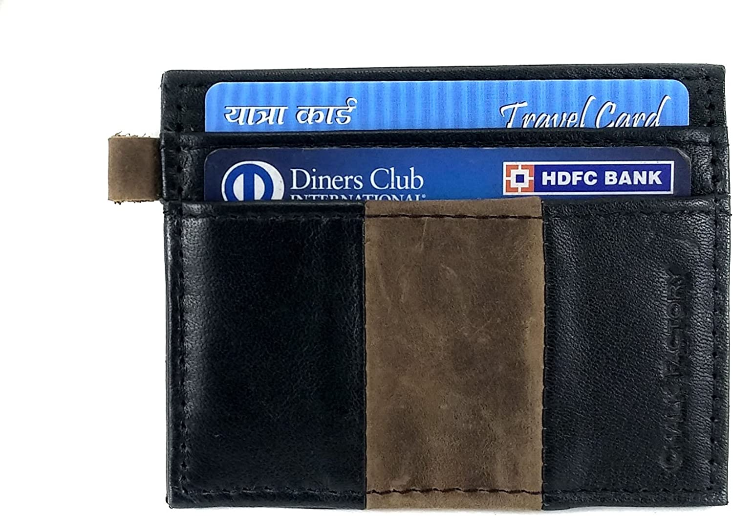 Chalk factory Minimalistic Leather Grained Credit Card Visiting Card Holder