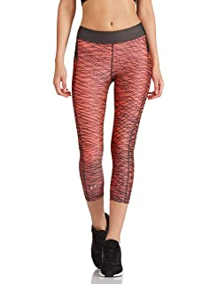 Leggings Under Armour Womens 2018 Heatgear Training Printed Compression Tights Orange To Rank First Among Similar Products