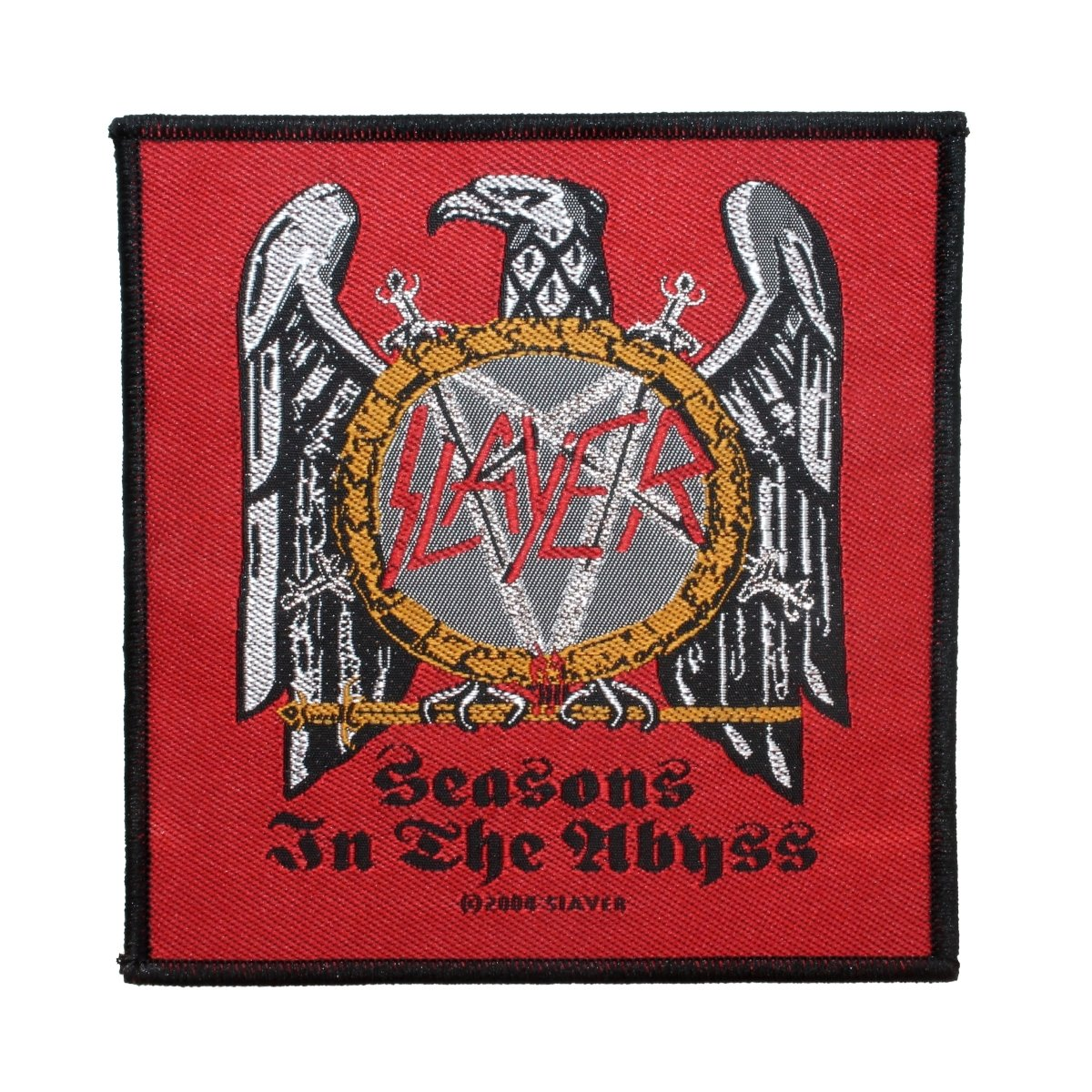 Slayer Seasons In The Abyss Woven Patch Red
