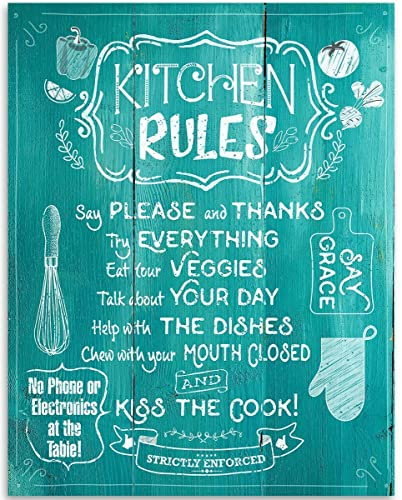 Kitchen wall art with words