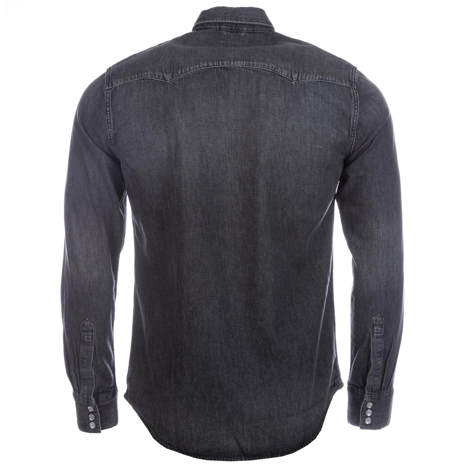 1ff733e6e91 Levi s Mens Mens Sawtooth Western Laundered Shirt in Charcoal - 3XL  Levis   Amazon.co.uk  Clothing
