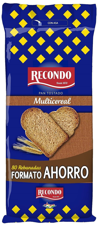 RECONDO - Pan Tostado Multicereales Paquete 640 Gr: Amazon.es: Alimentación y bebidas