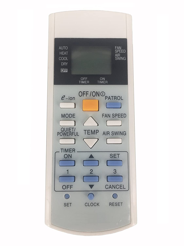 Meide A75C3298 Panasonic A/C Air Conditioner Remote Control for Panasonic A75C2998 A75C3060 A75C3155 A75C3159 A75C3182 A75C3184 A75C3058 Air Conditioning Remote Controller Meide Eletronic