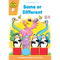 School Zone - Same or Different Workbook - 32 Pages, Ages 3 to 5, Preschool to Kindergarten, Words, Letters, Colors, Matching, Compare and Contrast, and More (School Zone Get Ready!™ Book Series)