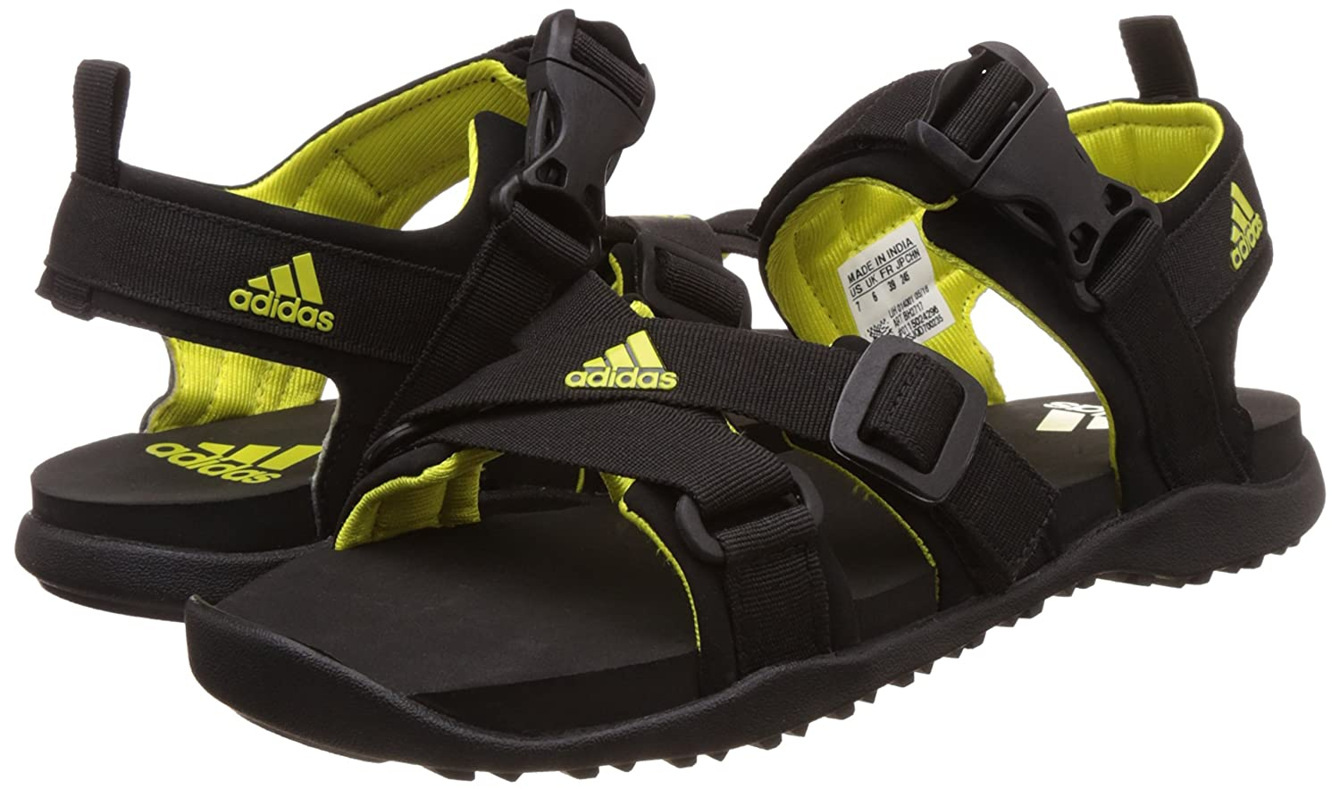 e3986fe7af7 Adidas Women s Gladi W Black and Shosli Leather Athletic and Outdoor  Sandals - 4 UK India (36.7 EU)  Amazon.in  Shoes   Handbags
