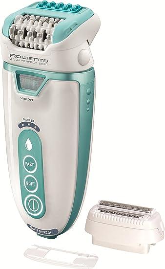 Rowenta Aquaperfect Soft - Depiladora con 2 accesorios, color turquesa: Amazon.es: Salud y cuidado personal