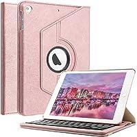 BORIYUAN Tastatur Hülle für iPad Pro 11, Ultra Slim PU Schutzhülle mit Magnetisch Abnehmbarer Tastatur für iPad 11 2018 A1980 A2013 A1934 A1979 (Gold Tastatur)