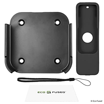 ECO-FUSED Soporte de Pared y Cubierta de Control Remoto Compatible con Apple TV 4