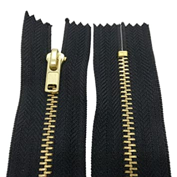 1 x Jeans Reißverschluss Metall nicht teilbar Farbauswahl L= 16cm,18cm oder 20cm