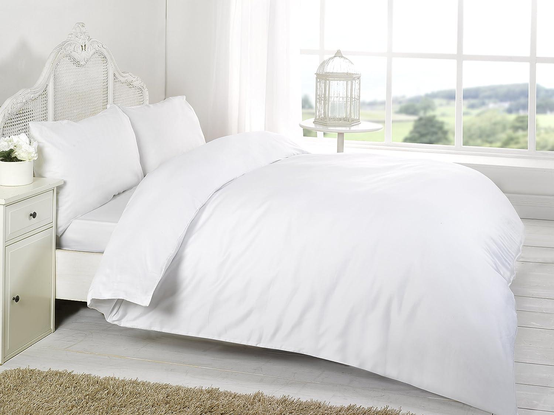 Luxus 200Fadenzahl unifarben Bettbezug mit Kissen in allen Größen, baumwolle, Lilac, Single 137x200cm Night zoon