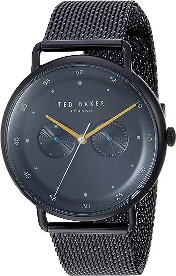 Amazon.com: Reloj de cuarzo de acero inoxidable Ted Baker ...