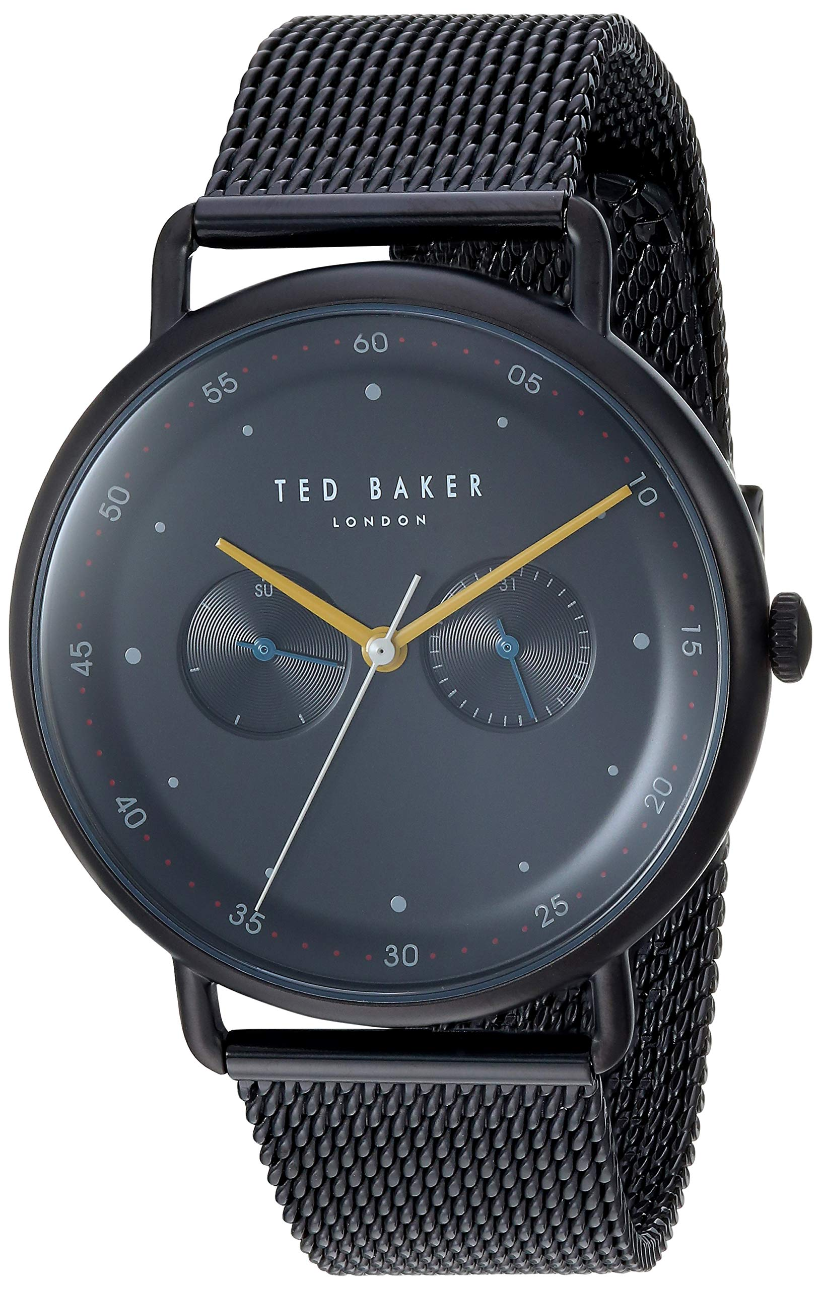 Ted Baker Men's George Quartz Watch with Stainless-Steel Strap, Black, 19.3 (Model: TE50520009)