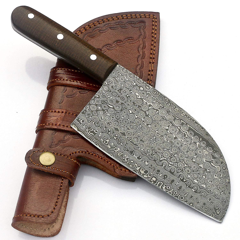 Handmade Damascus Steel Cleaver Chopper Knife Rain Drop Pattern 11 Inches VK0224