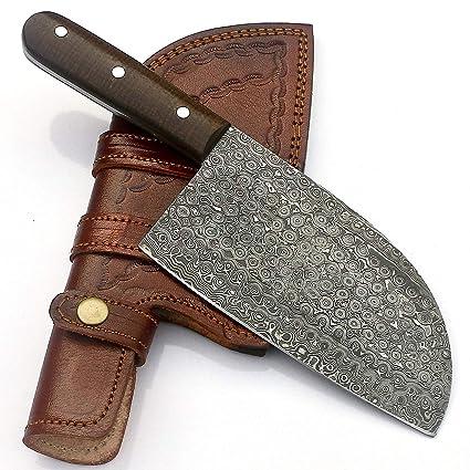Amazon.com: vky vka0224 hecho a mano cuchillo de Damasco ...