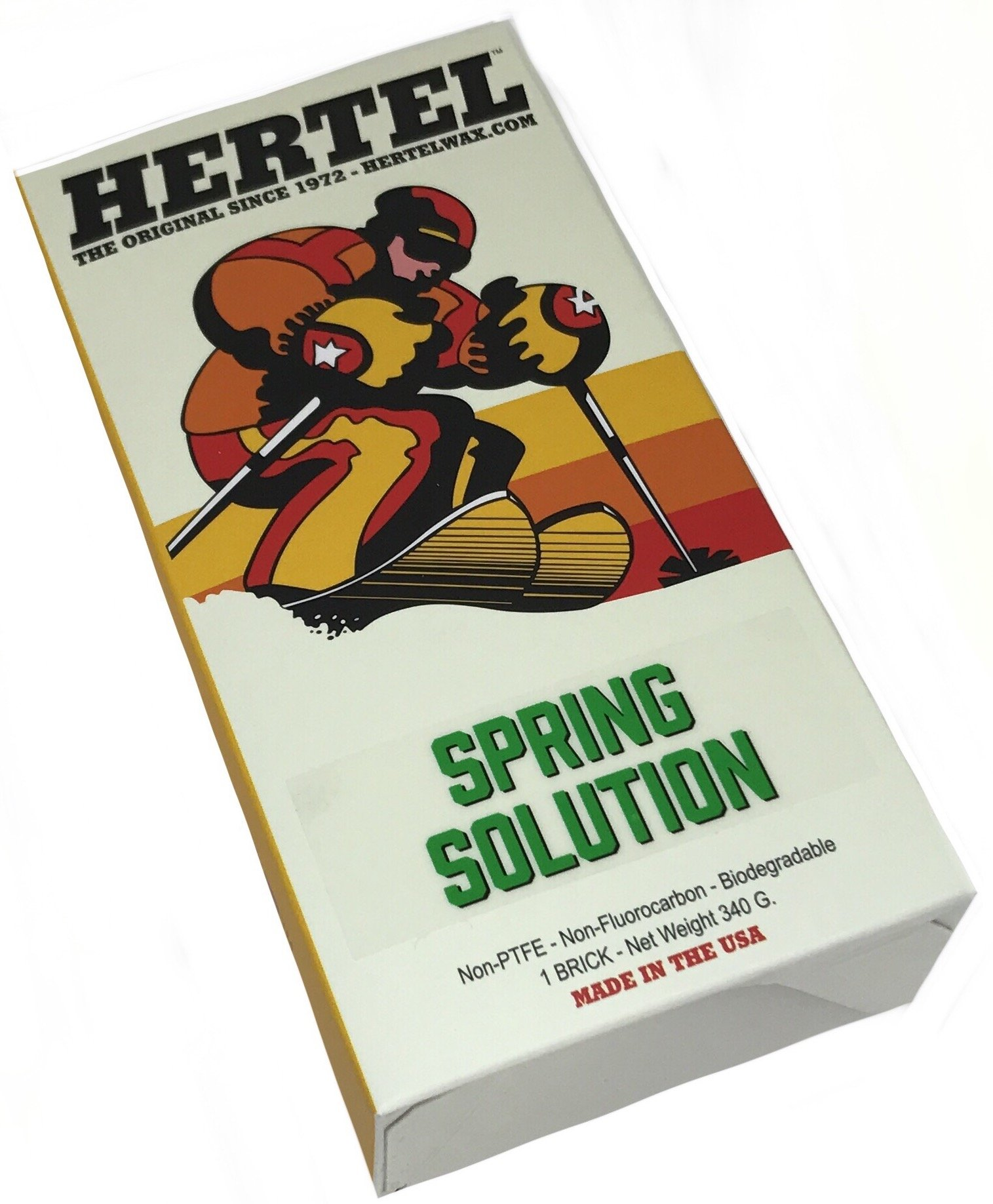 SpringSolution Warm Ski and Snowboard All Temperature Wax 340 gr by Hertel Wax