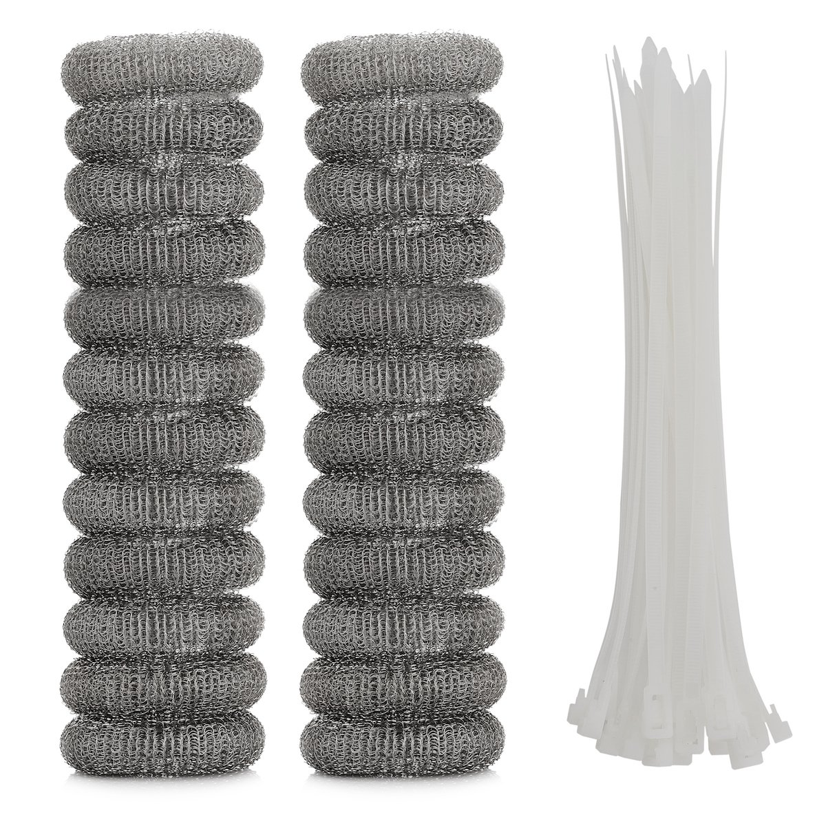 OnUpgo 24 Pack Lint Traps for Washing Machine Lint Trap Snare Laundry Mesh Washer Hose Filter with Nylon Cable Ties, Stainless Steel Mesh Filter Won't Rust, Easy Installation