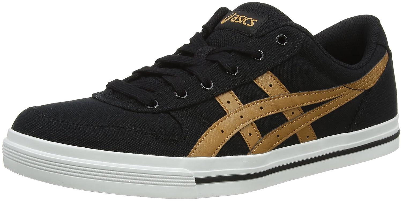 Asics Herren Aaron Sneaker, Grau  43.5 EU|Schwarz (Black/Meerkat 9021)