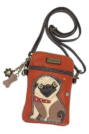 a01283c2eed Amazon com Chala Pug Cellphone Crossbody Handbag Convertible