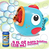PROUDLY PRESENTS BY RAINBOW BUBBLES Fish Bubble Machine (Automatic Bubble Blower w/ 1 Bubble Solution in Gift Box), Party Hur