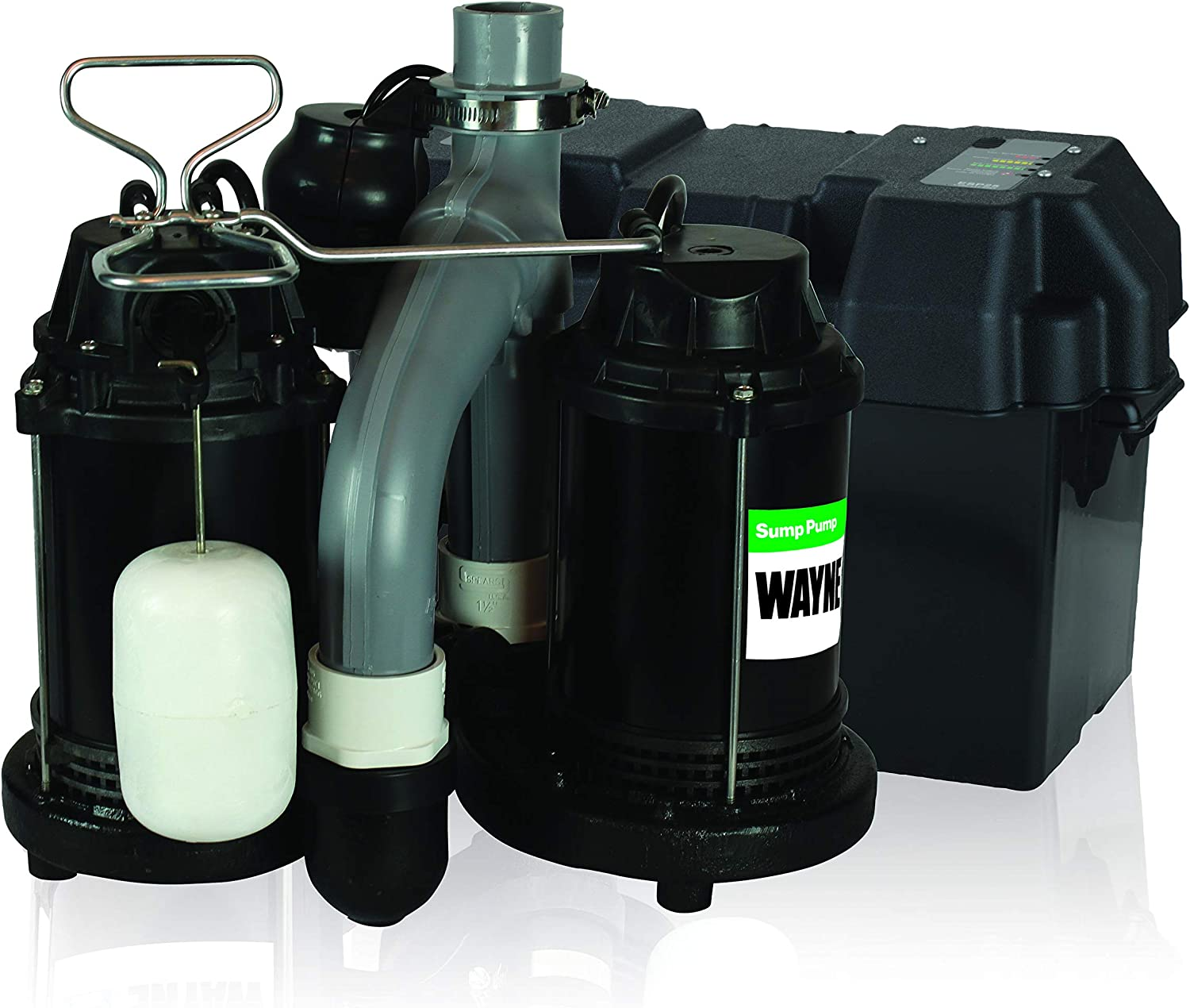 Wayne WSS30VN Upgraded Combination sump pump with Battery Back Up System