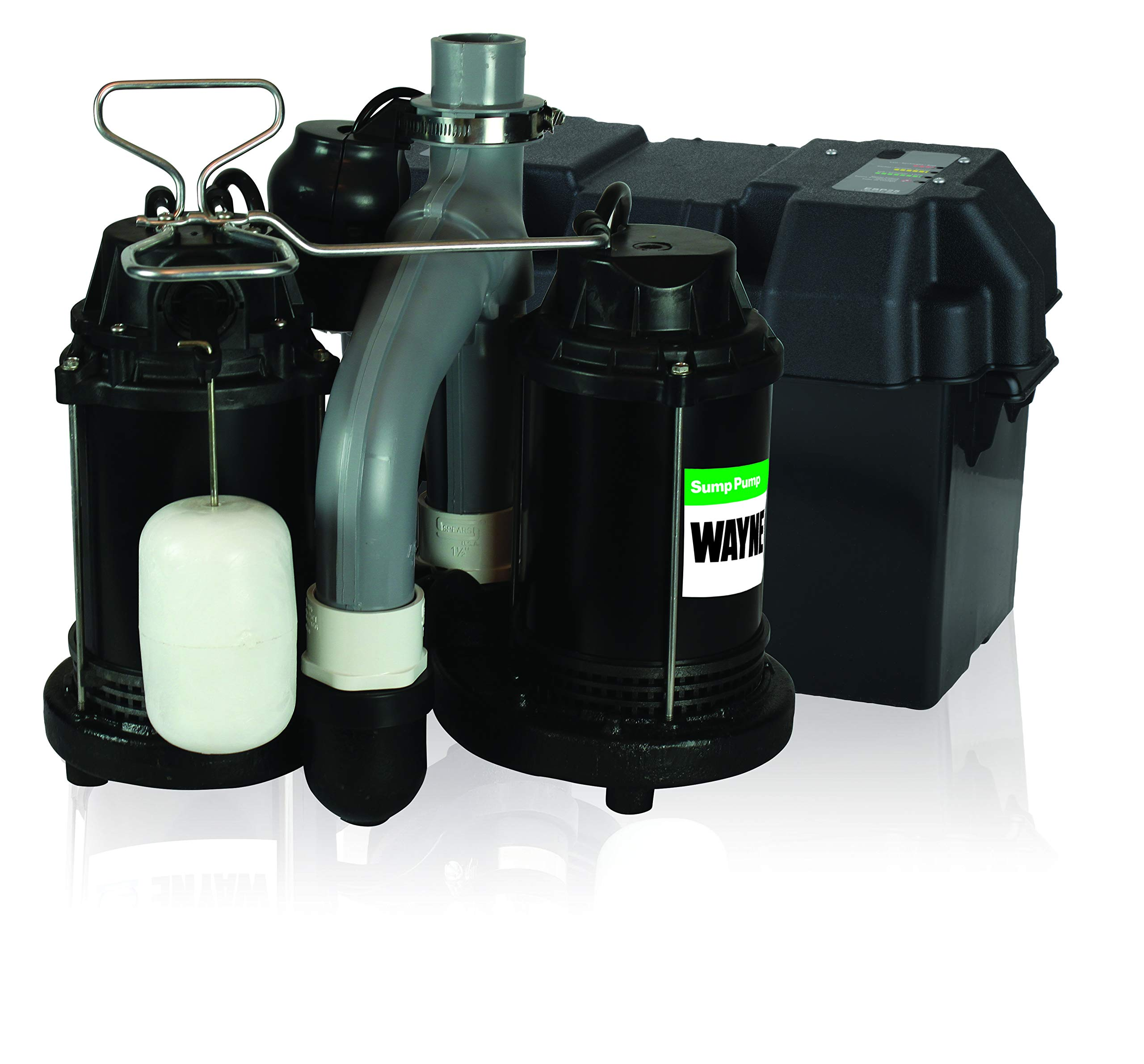 Wayne WSS30VN Upgraded Combination 1/2 HP and 12-Volt Battery Back Up System by Wayne