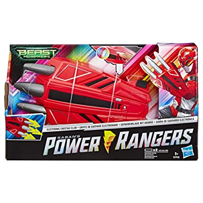 Power Rangers E5908EU5 Beast Morphers Electronic Cheetah Claw, Red Ranger Role Play Toy, Multicolour: Toys & Games
