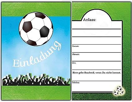 Tarjetas de invitación Fútbol para invitación a cumpleaños ...
