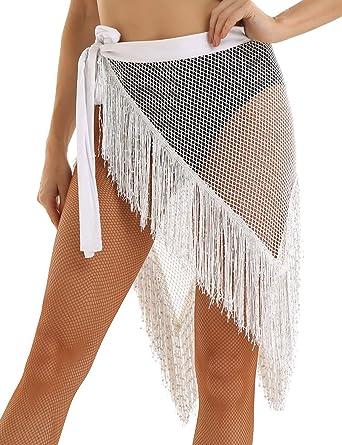 YiZYiF Pareo de Playa para Mujer Chica Moda Falda Volantes Bufanda ...