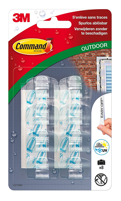 Command 17017 Clips de D/écoration Transparents pour  Ext/érieur