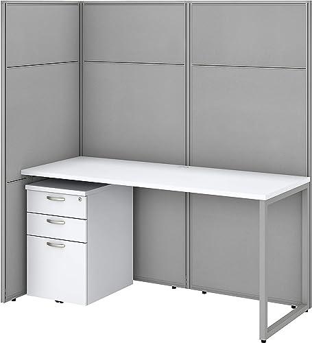 Best modern office desk: Bush Business Furniture Easy Office Cubicle Desk