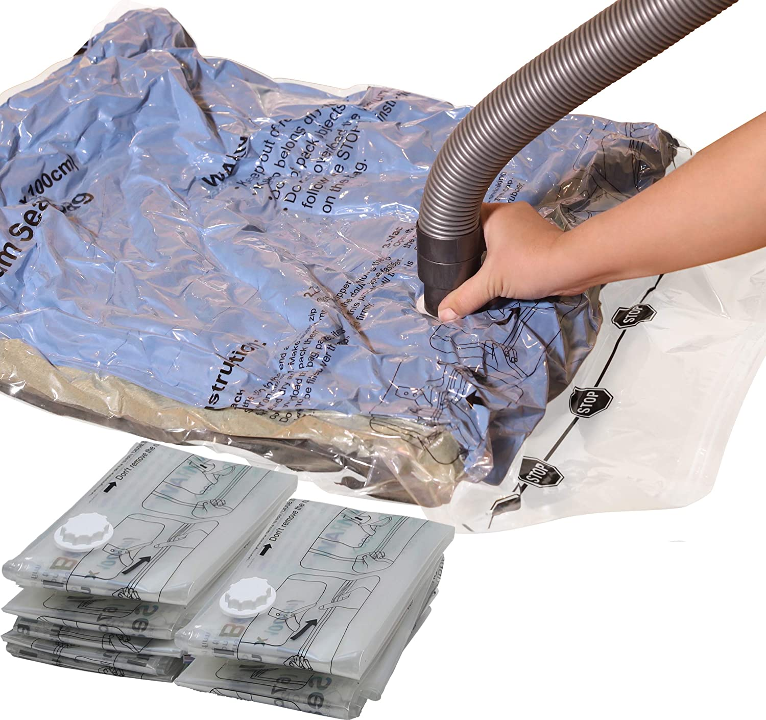 "7 Pack - Large Size Vacuum Storage Bags to Space Saver for Towel, Blanket, Clothes (21.5"" x 33.5"")"