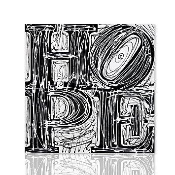 Colorscrazy Cuadro Hope Hoffnung Schwarz Weiß Robert Indiana  Pop Art Dekoration Modern Decor Malerei
