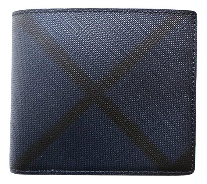 e4ffc9325b853 Image Unavailable. Image not available for. Colour  Burberry men s genuine leather  wallet credit card bifold blu