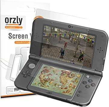 Orzly 3DSXL Protectores de Pantalla, Multi-Pack de 6 Protectores (3 para la Pantalla de Arriba,