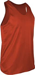 product image for TR-903-CB Men's Athletic Single Ply Solid Color Light Weight Track Singlet (Large, Orange)