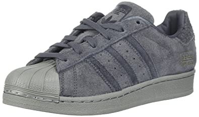 premium selection e0145 efa82 adidas Originals Boys  Superstar J Running Shoe, Grey Five Utility  Black Metallic